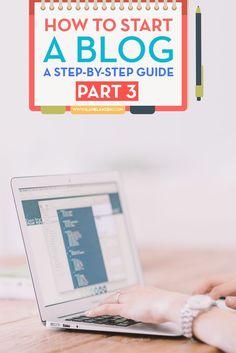 How to start a blog   http://www.ilanelanzen.com/how-tos/how-to-start-a-blog-a-step-by-step-guide-part-3/
