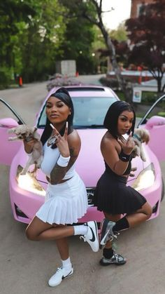 Swag Outfits For Girls, Curvy Girl Outfits, Teenage Girl Outfits, Cute Swag Outfits, Teen Fashion Outfits, Kids Outfits, Matching Outfits Best Friend, Best Friend Outfits, Black Girls Videos