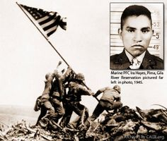 Ira Hayes, Corporal, USMC, Pima Indian.  A member of the Iwo Jima flag raising during WWII.