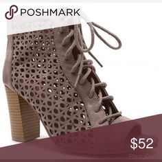 NEWPeep Toe Taupe Booties!! Get your pair of these super cute Peep Toe Booties! Shoes Ankle Boots & Booties