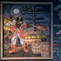 April Chalk Board at Tri-City Brewing Company.