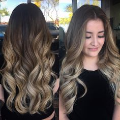 Smoky Balayage wavy hairstyle for long hair Half Up Wavy Bob Would you like to wear this beautiful wavy hairstyle? Try out for our best 3-barrel curling irons