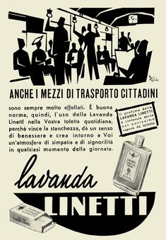 Lavanda LINETTI. Pubblicità degli anni '50. #TuscanyAgriturismoGiratola