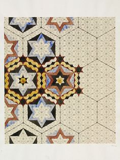 Designs for tiles in Islamic style | Jones, Owen