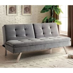 This split-back sofa is sure to create a comforting vibe in any setting. The grey flannelette offers visual warmth and smooth comfort while the button tufted surface creates a stylized seating area.
