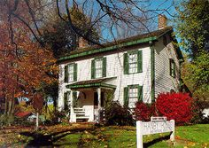 """Benjamin Hanby House, Westerville, OH.  This was about halfway on the short walk along W. Main St. from my house to my Busic grandparents' house.  This was a """"station"""" on the Underground Railroad.  Hanby wrote the songs """"Darling Nelly Gray"""" and """"Up On the Housetop."""""""