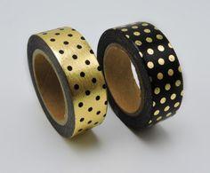 Dots Pattern Washi Tape //Price: $8.99 & FREE Shipping //   #lovehippiecat #paper #scrapbooking #craft #papercrafts