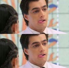 I love his tounge 😍😍👅😍😍 Kaira Yrkkh, Kartik And Naira, Mohsin Khan, Cutest Couple Ever, I Love Him, Cute Couples, College, Celebs, Web Series