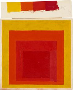 Josef Albers Study for a Homage to the Square with color study, n.d. oil on blotting paper 111⁄2 × 113⁄4 in. (29.4 × 29.7 cm) 1976.2.340