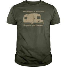 What Happens In The Camper Stays In The Camper T-Shirt Men-Women #camper #tshirt