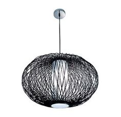 """Price: $155.37 Bazz Lighting LU8025 Vibe Series Single-Light Foyer Pendant, Finished in Chocolate Rattan - Bazz LU8025 Vibe Series Single-Light Foyer Pendant, Finished in Chocolate Rattan Bazz LU8025 Features: Uses (1) 13 watt CFL base fluorescent bulb, or (1) 40W medium base incandescent bulb (not included)Product dimensions: 13-5/8""""H x 21-1/16"""" DiameterChrome finish with chocolat rattan rod shade78-5/8"""" maximum overall height"""