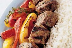 Spicy Lamb Kebabs - Weber - New Zealand Kebab Recipes, Lamb Recipes, Weber Q Recipes, Lamb Kebabs, Weber Bbq, Kabobs, Pot Roast, Spicy, Yummy Food