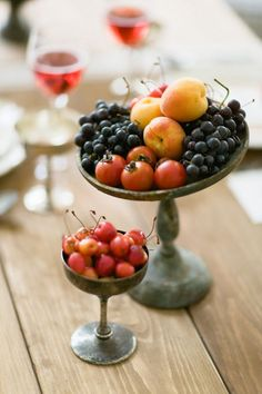 Fruit centerpieces | Summer wedding centerpieces | Photography: Brancoprata - brancoprata.com