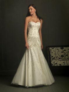 Taffeta Sweetheart Embroidered Bodice A-line Wedding Dress