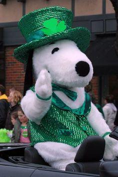 St. Patrick's Day Snoopy: