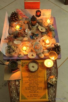 Our Spiritual Garden Cum Nature Table – for Peace, Meditation and Creative Inspiration