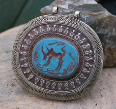 Beautiful large handmade Afghan pendant - look4treasures on Etsy, $54.95