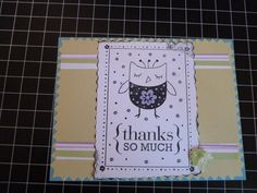 Owl stamp card
