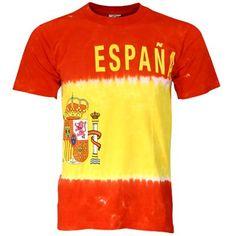 Spain International Flag Tie Dye T-shirt