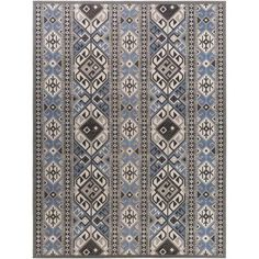 Bungalow Rose This eye-catching rug's geometric motif gives it a sophisticated look that elevates any space. Use it to do anchor a contemporary ensemble in the den or to add a pop of pattern to the master suite. Rug Size: Rectangle x White Area Rug, Beige Area Rugs, Southwestern Area Rugs, Urban Loft, Tribal Patterns, Machine Made Rugs, Rug Shapes, Indoor Rugs, Power Loom