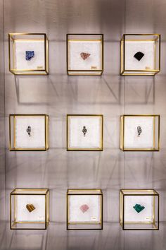 The Fendi Policromia Timepieces haute joaillerie collection, designed in collaboration with Delfina Delettrez Fendi, is featured at the Landmark in Hong Kong, China.