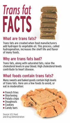 You very foods high in trans fat will not