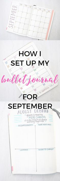 How I set up my bullet journal for September (and debriefed August!)
