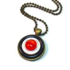 #Mod #Target Pendant, Upcycled Button Necklace