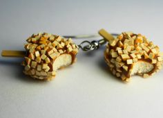 Ice Cream Earrings Miniature Food Earrings by Sweetnsavorytrinkets, $16.00