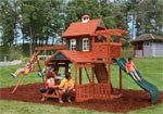 .Palisade Wooden Swing Set