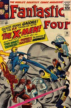 Items similar to Fantastic Four 28 comic, X-Men Silver Age books. 1964 Marvel Co. - Items similar to Fantastic Four 28 comic, X-Men Silver Age books. 1964 Marvel Comics, FN on E - Marvel Comics, Old Comics, Marvel Comic Books, Comic Book Characters, Comic Books Art, Comic Art, Book Art, Marvel Vs, Marvel Characters