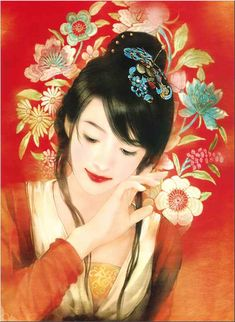 traditional Chinese painting of beautiful women | Asians-Chinese