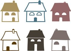 Silhouette Design Store - View Design #21376: houses