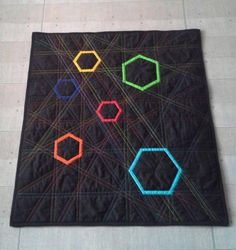 mini quilt in black