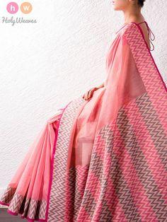 Pink Art Cotton Silk Saree – HolyWeaves