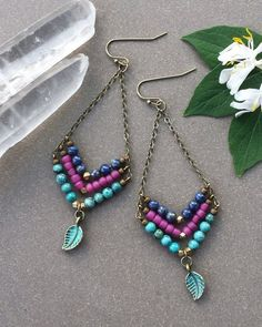 Chevron Beaded Earrings - Yahoo Image Search Results