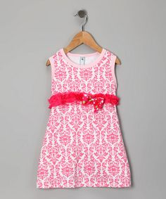Take a look at this Pretty in Pink Damask Dress - Toddler & Girls by Made 2 Matche on #zulily today!