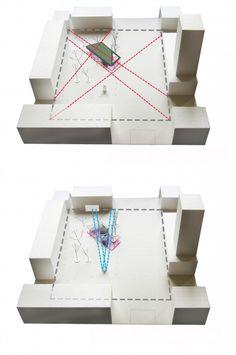 combine photos of your model with informative diagramming - flying carpet / kjellgren kaminsky architecture [site model diagrams] Presentation Techniques, Presentation Styles, Project Presentation, Architecture Drawings, Architecture Design, Glass Museum, Green Technology, Concept Diagram, Norsborg