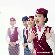 China Southern Cabin Crew with lovely smile!