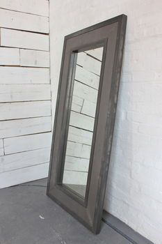 Philip Perforated Steel Clad Framed Distressed Mirror