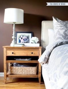 DIY Bedside Table Nightstand - DIY Bedside Table Nightstand Build your own DIY nightstand bedside table. Via Jen Woodhouse Diy Furniture Redo, Building Furniture, Repurposed Furniture, Furniture Projects, Furniture Plans, Home Furniture, Furniture Design, Furniture Online, Cheap Furniture