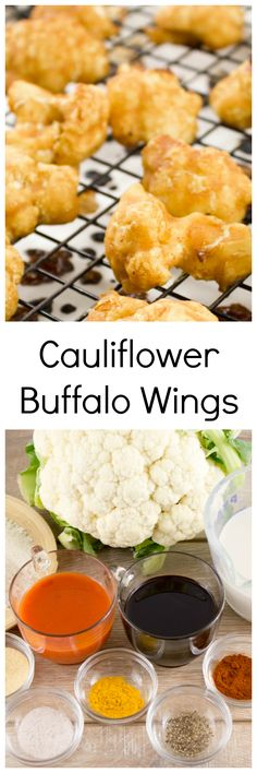10 Ingredient Cauliflower Buffalo Wings are oh so delicious and easy to make. Who says you can't eat vegan wings? Try these out today. Infusedveggies.com