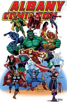 Albany Comic Con Program cover. My Thor in the corner;)