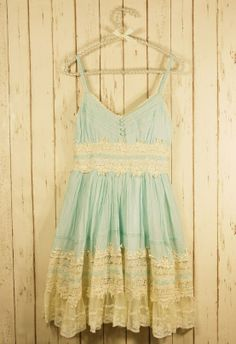 lace dress! blue casual country style! love it!