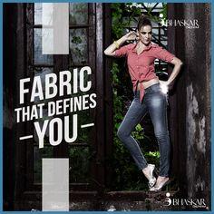 The fabrics that define you the best that nothing else can do. #demins #fabrics #qualityspeaks #BhaskarIndustries #BhaskarDenims #DenimFabrics