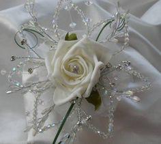 The Bridal Workshop - Bridesmaids rose & swarovski crystal flower girl wand