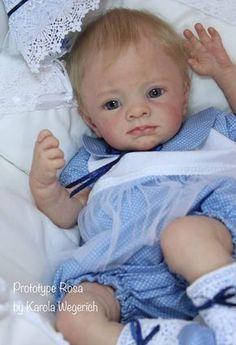Rosa Reborn Vinyl Doll Kit by Karola Wegerich Reborn Doll Kits, Reborn Toddler Dolls, Newborn Baby Dolls, Reborn Baby Girl, Reborn Babies, Baby Doll Nursery, Reborn Nursery, Real Life Baby Dolls, Fake Baby