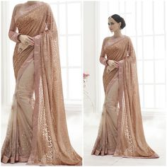 Cream Awesome saree with Fabulous Blouse. Product Number:NRNS-HC3815
