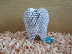 Origami 3D - Dente - Tooth Origami 3d, Origami Tooth, Origami Modular, Origami Flowers, 3d Quilling, Quilling Designs, Origami Instructions, Origami Tutorial, Paper Art Video