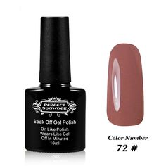 Perfect Summer UV/LED Soak Off Gel Nail Plosh French Manicure Art Professional Salon Nail Lacquer Varnish , 1 x 10ml , Perfect Match Colors no. 72 Brown >>> Details can be found by clicking on the image.